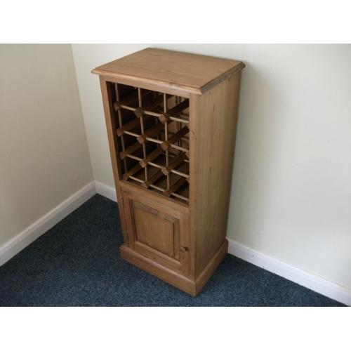 Bathroom door hook - Pine Wine Rack With Cupboard W43cm