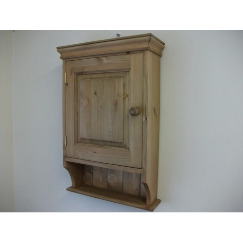 Pine Panelled Door Bathroom Cabinet . W47cm