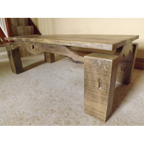 Reclaimed spalted beech coffee table for Beech coffee table