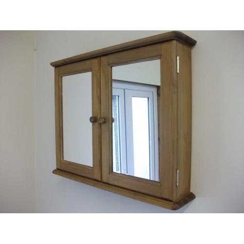two door, mirrored, bathroom cabinet. W72cm.