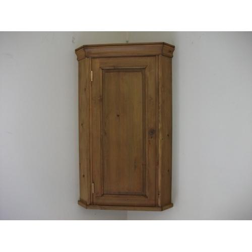 Pine Wall Corner Cupboard W51cm