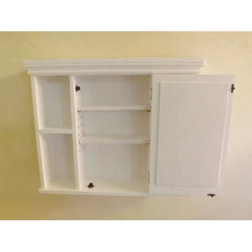 Painted Pine Mirrored Bathroom Cabinet. W75cm