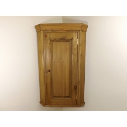 Pine wall corner cupboard. W51cm.