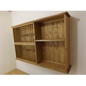 Pine wall 28  plate rack. W120cm