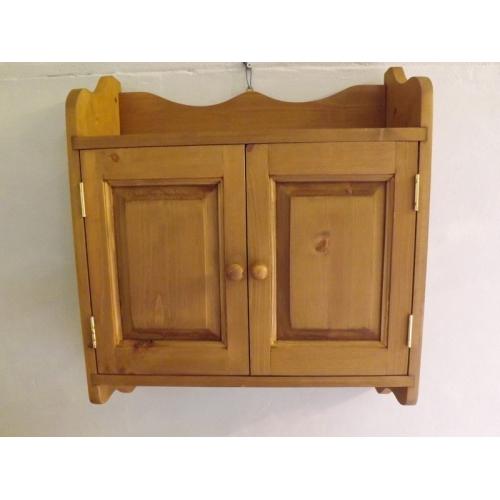 Two Door Pine Wall Cabinet W52cm